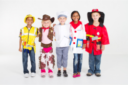 group of kids wearing customes